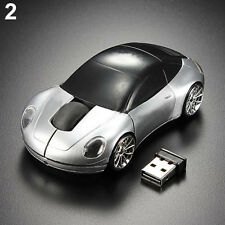 SILVER OPTIMISTIC CHIC CAR 2.4GHZ WIRELESS OPTICAL MOUSE/MICE USB 2.0 FOR PC