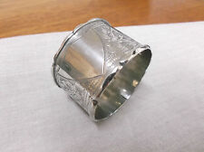 A LARGE  EDWARDIAN    STERLING  SILVER    NAPKIN RING   BIRMINGHAM   1909
