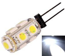 G4 voitures 9 LED SMD 5050 lumière SMD Pure White Cabinet RV bateau Lampe 12V DC