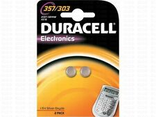 Duracell 2 Piles bouton   357 - 303 , SR44SW DURACELL, 1,55V