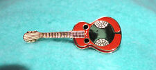 ZP189 Country and Western Acoustic Guitar Enamel Lapel Pin Badge dobro style