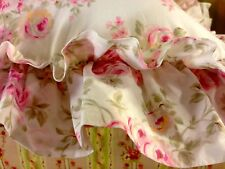 NEW SIMPLY SHABBY CHIC DOUBLE RUFFLE FLORAL PETTICOAT PILLOW RACHEL ASHWELL