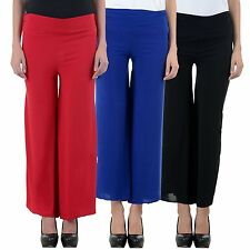 I Shop Girls & Woman's Red Blue & Black Color Combo Offer Palazzo Pant