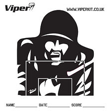 100 X 17CM VIPER doble SIDED PRO papel de destino para BB Pistola Airsoft o Slingshot