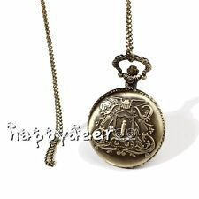 Katekyo Hitman Reborn Vongola Pocket Watch Cosplay Necklace Badge 3 Set