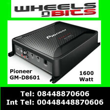 Pioneer GM-D8601 Mono Block 1600WATT Class-D Car Amp, with Bass Boost Remote