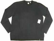 $89 NWT Mens Calvin Klein CK One Stripe Stitch Cotton Blend Sweater Size XL M901