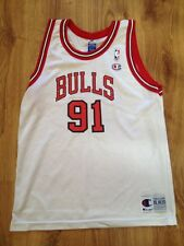 4.6/5 CHICAGO BULLS DENNIS RODMAN NBA BASKETBALL JERSEY CHAMPION SIZE 18-20 XL