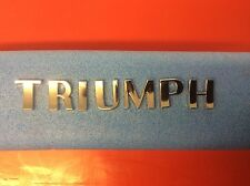 TRIUMPH CHROME LETTER SET TR2 TR3 TR4 TR4A GT6 SPITFIRE PART NUMBER 703862SET