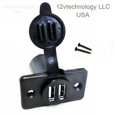 Dual USB Charger Socket 12 Volt  Power Outlet For iPhones  Marine  Accessories
