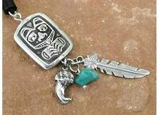Bear Standing Totem Pendant with Two Spirit Charms and Spirit Bead #HC-TS03