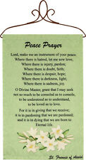 Peace Prayer St. Francis of Assisi Wall Hanging