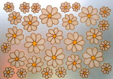 ~BEA'S~30~ STAINED GLASS EFFECT DAISY WINDOW CLINGS~