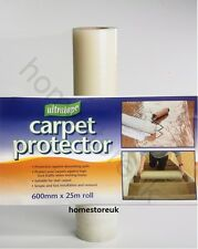 25m X 600mm ULTRATAPE CLEAR CARPET PROTECTOR FILM SELF ADHESIVE ROLL DECORATING