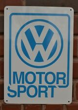Volkswagen Motor Sport SIGN Bettle Bus Mechanic Garage Shop Race Fan Ad 7day