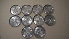 SILVER Coaster - Lot of 10 - Vintage