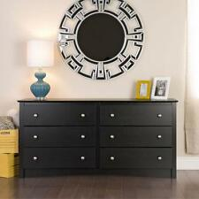 Black 6 drawer Dresser Chest Bedroom Drawer Bed Room Wood Furniture Drawers