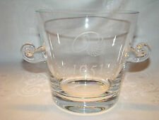 """Vintage Tiffany & Co Crystal Ice Bucket Snail Handles """"The 1951 Society"""" Etching"""