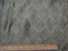 "Sage Diamond Dupioni Jacquard 100% Silk Fabric 54"" Wide, By the Yard (JD-335A)"