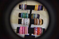 100 SET Nepal Rolls Glass Beaded bracelet crochet handmade bead bangle Random