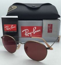 Authentic Ray-Ban RB 3447 167/2K 50mm Round Red Mirror Lens Brown Frame Sunglass
