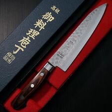 Japanese Isshin Hammered 17 Layers Damascus VG10 Gyuto Chef Knife 180mm Japan