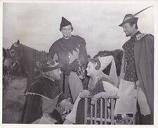 ROBERT TAYLOR AVA GARDNER Original CANDID Knights Of The Round Table MGM Photo