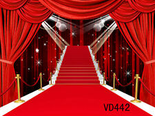 RED CARPET Thin Vinyl photography Backdrop Background studio props 9x6ft VD442