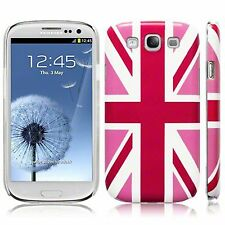 Samsung Galaxy S3 i9300 Pink Union Jack Flag Hard Back Case Cover