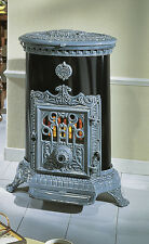 NEW French 7kw Godin 3726 Stove Cast Iron Wood Burner Coal multifuel Oval Blue