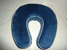 NEW Worlds Best Cushion/Soft Memory Foam Neck Pillow in Navy
