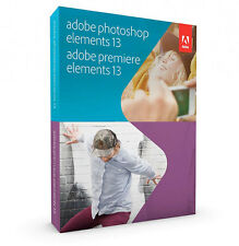 NEW & SEALED ADOBE PHOTOSHOP & PREMIERE ELEMENTS 13 MAC PC FULL VERSION WINDOWS