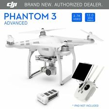 DJI Phantom 3 Advanced GPS Drone with 2.7K 12 Megapixel HD Camera - Brand New