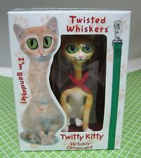 2003 Twisted Whiskers Cat Christmas Ornament MIB American Greetings Twitty T19