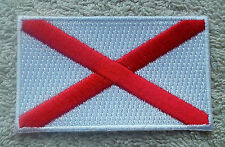 IRELAND FLAG PATCH Embroidered Badge Iron/Sew on 4.5cm x 6cm St Patrick Saltire