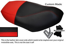 RED & BLACK CUSTOM FITS PIAGGIO FLY 50 100 125 150 UP TO 2011 LEATHER SEAT COVER