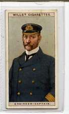 (Jk821-100) Wills,Naval Dress & Badges, Engineer-Captain ,1909 #25