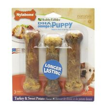 Nylabone Healthy Edibles Puppy Sweet Potato & Turkey Blister Card Regular 3ct
