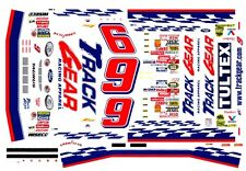#9 Jeff Burton Track Gear Ford 1/43rd Scale Slot Car Waterslide Decals