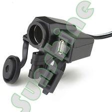 Weatherproof USB Port Mobile Phone GPS Cigarette Lighter Charger For BMW Bike