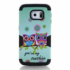Sunshine Owl Hybrid Rugged Black Hard Cover Case For Samsung Galaxy S7 Edge