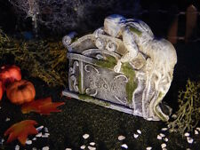 Halloween Miniature Tombstone, BELOVED, crying at GRAVE cemetery Dept 56 Village