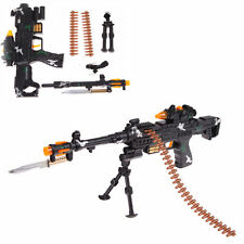 Kids Toy Military Assault Machine Guns with Sound Flashing Light Gift 59cm New