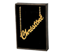CHRISTINE 18ct Gold Plating Necklace With Name - Bridal Jewellery Xmas Fashion