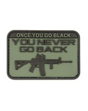 Once You Go Black (ops) You Never Go Back PVC Rubber Badge Military Patch Hook