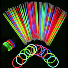 50 Pcs Glow Sticks Bracelets Necklaces Fluorescent Neon Party Magic Hot
