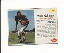 1962 POST CEREAL HAND CUT #113 WILLIE GALIMORE