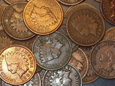 20 Indian Head Cents pennies. Various dates.