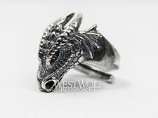 Dragon Head Ring - 925 Sterling Silver - Size 7/8/9/10/11/12 Viking/Norse/Skyrim