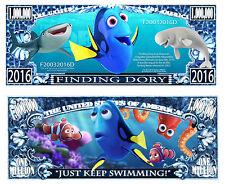 DORY ! BILLET MILLION DOLLAR US! Collection dessin animé Disney Nemo le Monde de